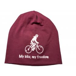 "Beanie ""My bike, my freedom"""